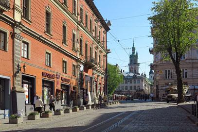 Ruska Street mit Blick nach Osten