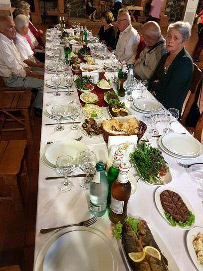 Supra für die Rotel-Gäste im Hotelrestaurant Zedazeni
