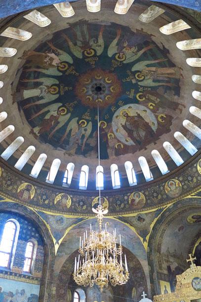 Blick in die Kuppel der Refektoriumskirche