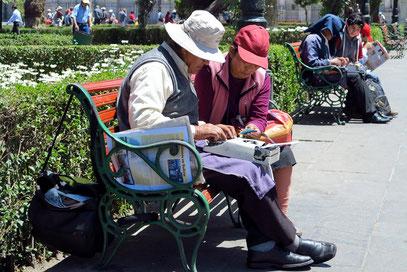Plaza de Armas, Schreiber bieten ihre Dienste an.