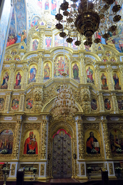 Große Ikonostase in der Mariä-Himmelfahrt-Kathedrale