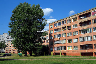 Sozialistischer Wohnungsbau in Narva aus der sowjetischen Zeit