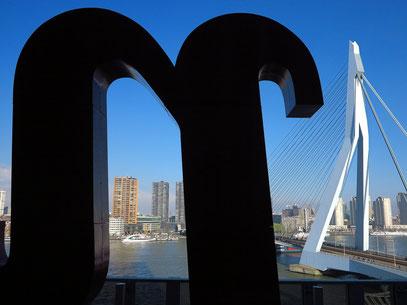 Ausblick von der Terrasse des Hotels nhow