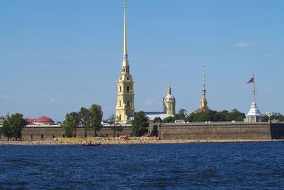 Peter-Paul-Festung mit der Kathedrale auf der Haseninsel