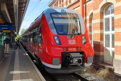 Triebwagenzug zwischen Rostock und Warnemünde