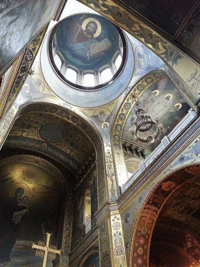 Volodymyr-Kathedrale, Christus Pantokrator an der zentralen Kuppel