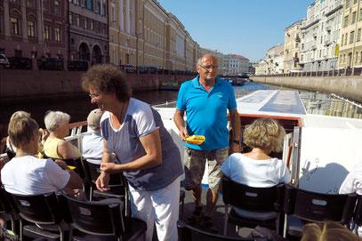 Unsere Bootsfahrt durch die Kanäle der Stadt