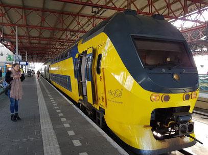 Intercity-Zug im Bahnhof von Eindhoven