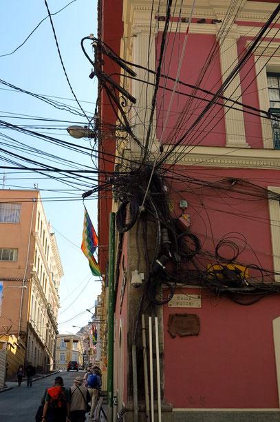 La Paz, auf der Calle Bolivar zuzr Plaza Murillo