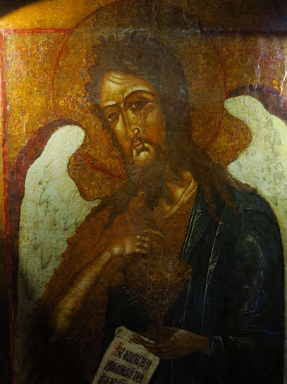 Ikone im unteren Geschoss der Kirche