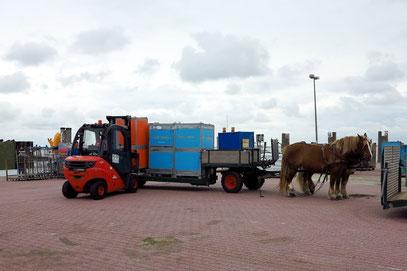 Lastwagen mit 2 Pferdestärken