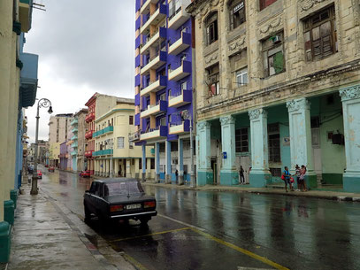 Central Habana im Regen