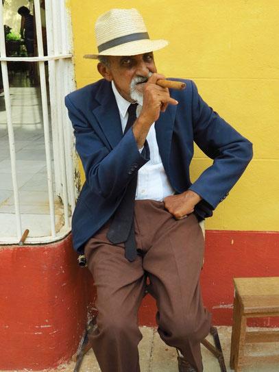 Ein typisches Fotomodell in Trinidad