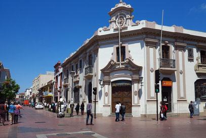 La Serena, Fußgängerzone in der Altstadt, Banco Estado