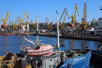 Hafengelände von Odessa, Blick nach Süden
