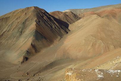 Farbige eruptive Ablagerungen