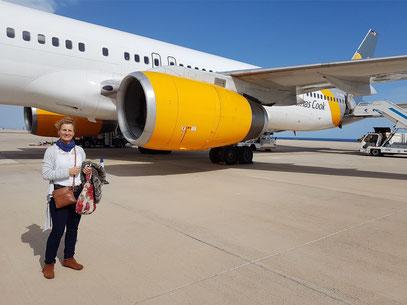 Ankunft auf dem Flughafen von Fuerteventura