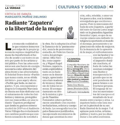 """Critica de La Verdad de """"La Zapatera Prodigiosa"""""""