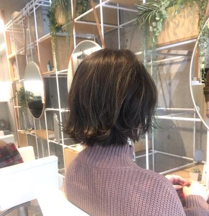 横浜・石川町、美容室Grantus,ヘアスタイル、ボブ、外国人風カラー、ハイライト