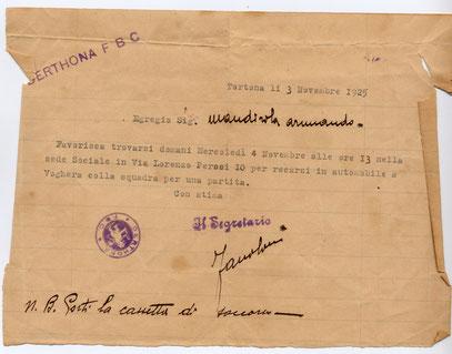 1925 Convocazione