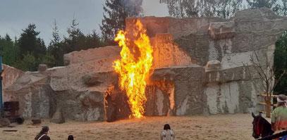 Brennende Felswand Freilichtbühne Pullman City