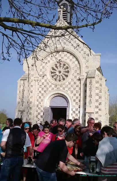 Dégustation à La Chapelle St Valery avec concert de chants de marins
