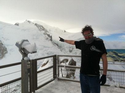 3845m Le crvb au sommet - température - 22°/ Envoyé par Hervé