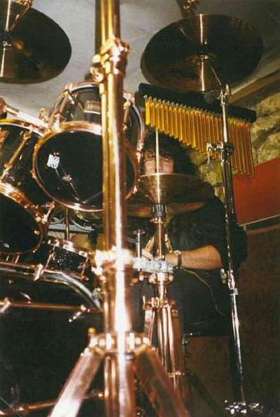 SONOR Hilite Exclusiv - Black Diamond / Lack mit Kupferhardware 1994 - 1996