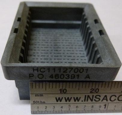 Grabado laser de componente electronico en material tipo resina LEXAN 940
