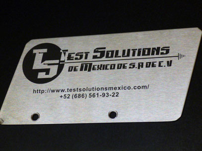 Grabado laser en placa Stainless Steel