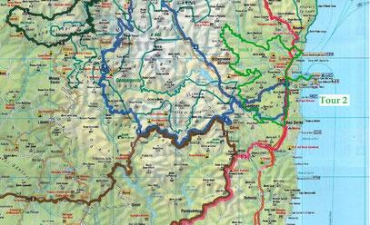 Tour 2 - Rund um Arbatax / Heute ist es die knallgrüne Tour!