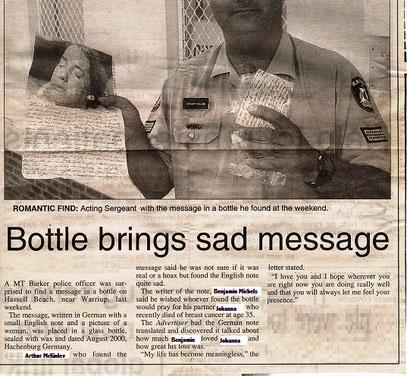 Albany-Advertiser 2001 (zur Anonymisierung modifiziert)