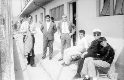 Il Presidente Temesio, assieme ad altri dirigenti e Giordano