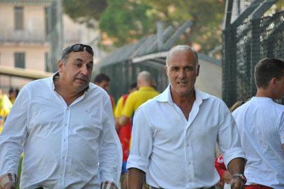 Il Presidente Gramondo ed il D.T. Alfredo Bencardino