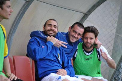 Ambrosini, Rovella e De Simeis festeggiano in panchina