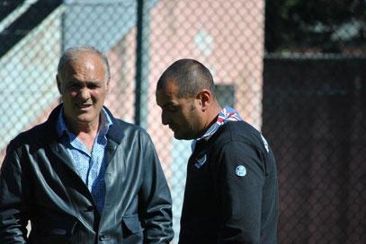 Il D.T. Bencardino e l'allenatore dei portieri Minori