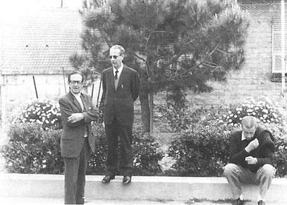Il Presidente Musso tra i dirigenti Roncallo e Giorgi