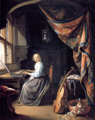 Gerard Dou, Woman at the Clavicord', © Dulwich Picture Gallery, London