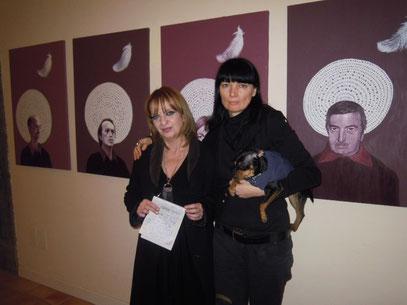con la giornalista Anna Teresa Damiano