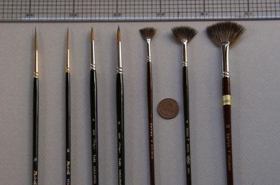 3種類の筆