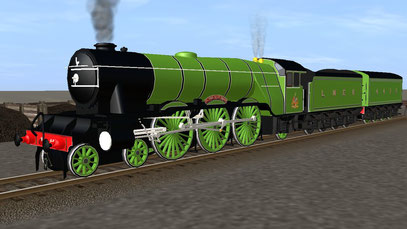 Alan Pegler 4472 Flying Scotsman with two tenders