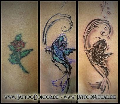 Tattoo Cover UP Knöchel TattooDoktor
