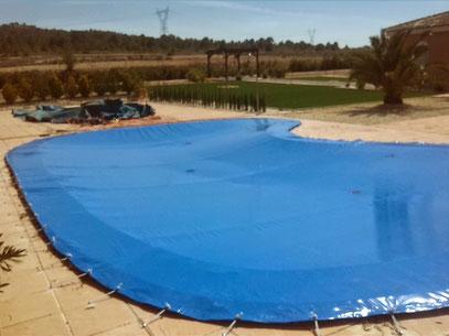 piscina con forma