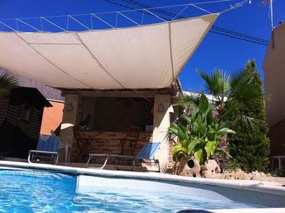 Toldos vela lona en pvc para piscinas cobertores para for Toldos para piscinas