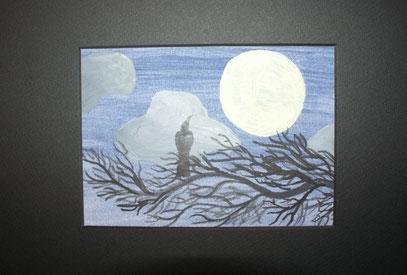 Rabe mit Mond / Ingrid Achleitner