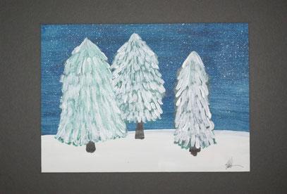 Drei im Schnee / Ingrid Achleitner