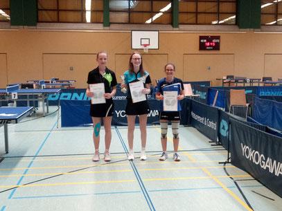 Victoria Merz (ganz rechts) konnte sich über den 3. Platz freuen