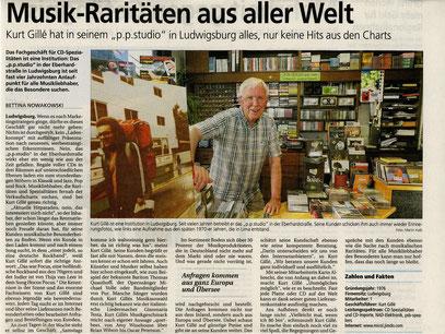 """Bietigheimer Zeitung """"Wirtschaft in der Region"""" Ausgabe 7.7.2014 - das """"p.p.studio in LB"""""""""""
