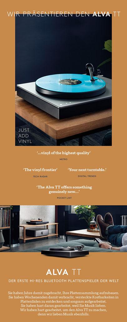 CAMBRIDGE AUDIO ALVA TT, der erste Hi-Res Bluetooth Plattenspieler der Welt