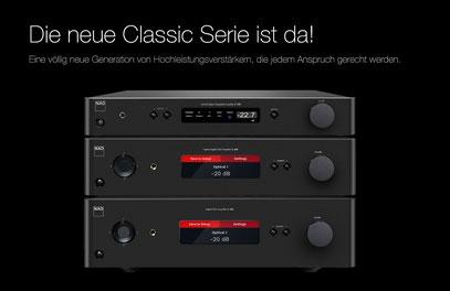 """NAD für uns seit 1973! """"New Acoustic Dimension"""" (Bild anklicken zur Vergrößerung) Unserere VK-Preise C 338 (699,00 EUR) - C 368 (999,00 EUR) - C 388 (1749,00 EUR)"""
